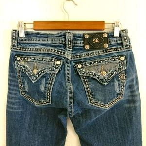 Miss Me Jeans Signature Boot Cut Embellished Jeans